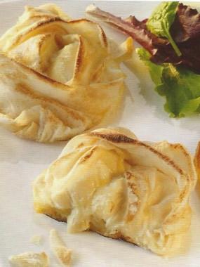 Croustillant de chèvre Ste Maure aux pommes caramélisées